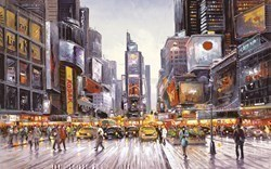 Times Square Morning by Henderson Cisz -  sized 32x20 inches. Available from Whitewall Galleries